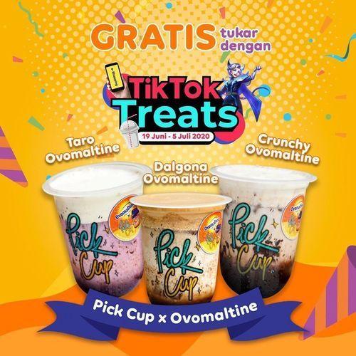 PICK CUP campaign TikTok Treats dan dapatkan OVOMALTINE SERIES GRATIS (26431791) di Kota Jakarta Selatan