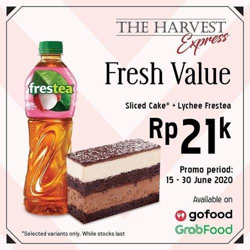 THE HARVEST EXPRESS Sliced Cake pilihan kamu dan Lychee Frestea, cuma Rp21ribu (26432067) di Kota Jakarta Selatan