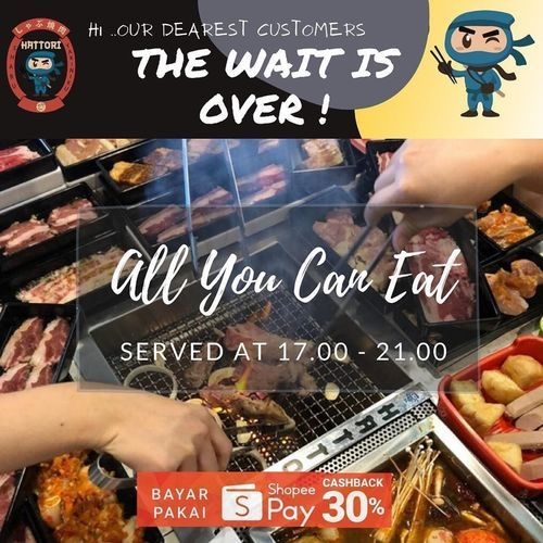 HATTORI.ID ALL YOU CAN EAT PROMO CASHBACK 30% (26449891) di Kota Jakarta Selatan