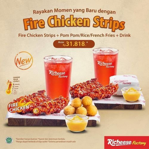 RICHEESE FACTORY Promo Fire Chicken Strips (26450183) di Kota Jakarta Selatan