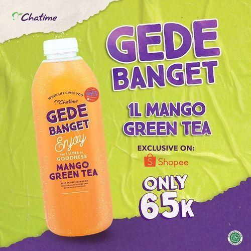 CHATIME 1L MANGO GREENTEA / APPLE GRENTEA ONLY RP 65K (26450343) di Kota Jakarta Selatan
