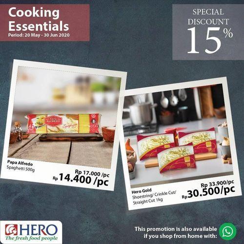 Hero Supermarket Cooking Essentials Special Discount 15% (26451423) di Kota Jakarta Selatan