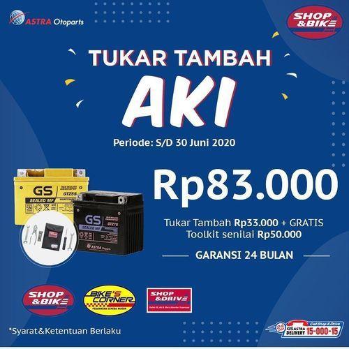 Shop and Bike Promo Tukar Tambah Aki (26451523) di Kota Jakarta Selatan
