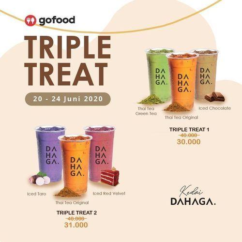 KEDAI DAHAGA TRIPLE TREAT ORDER VIA GOFOOD (26453663) di Kota Jakarta Selatan