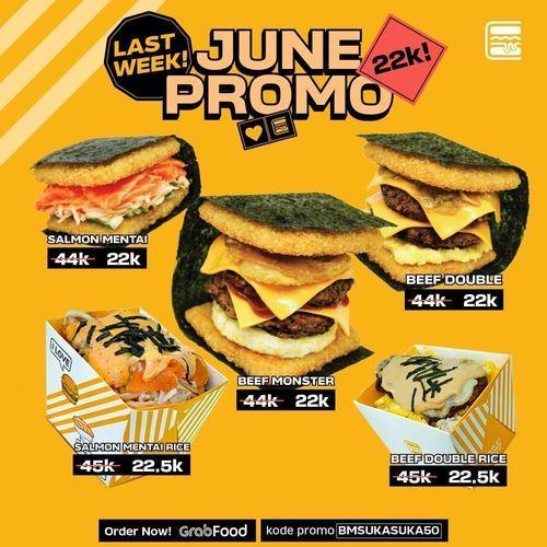BURGUSHI JUNE PROMO GRABFOOD VIA OVO DISKON 50% (26461663) di Kota Jakarta Selatan