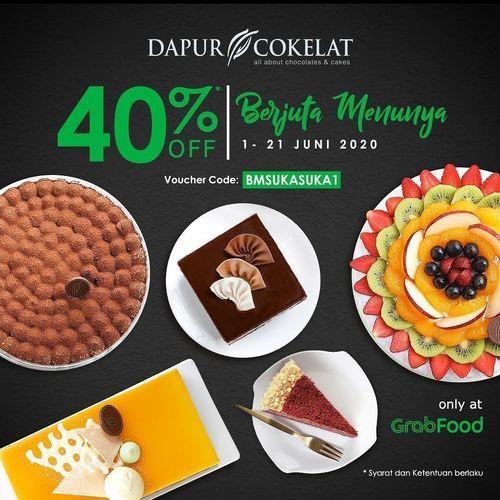 Dapur Cokelat Promo Diskon 40% Grabfood (26466191) di Kota Jakarta Selatan