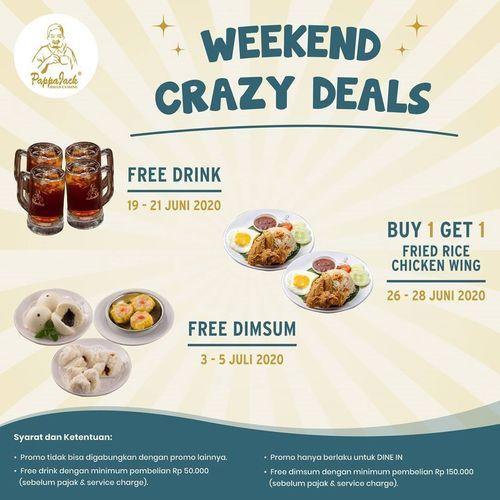 PappaJack Promo Weekend Crazy Deals (26466259) di Kota Jakarta Selatan