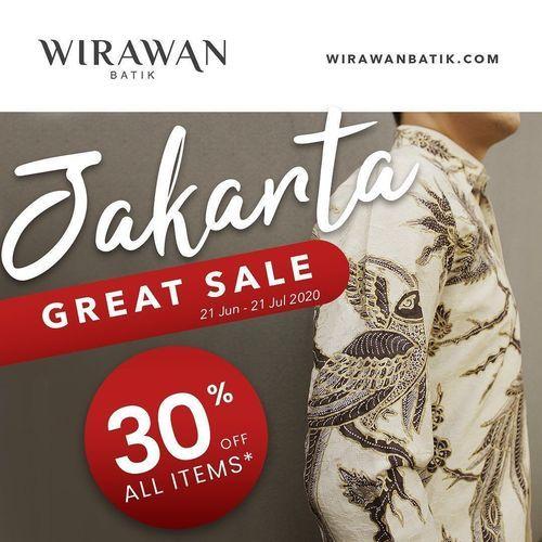Wirawan Batik Jakarta Great Sale 30% Off All Items (26466375) di Kota Jakarta Selatan