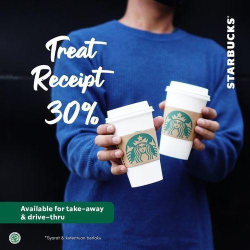 Starbucks Treats Receipt 30% Off (26476403) di Kota Jakarta Selatan