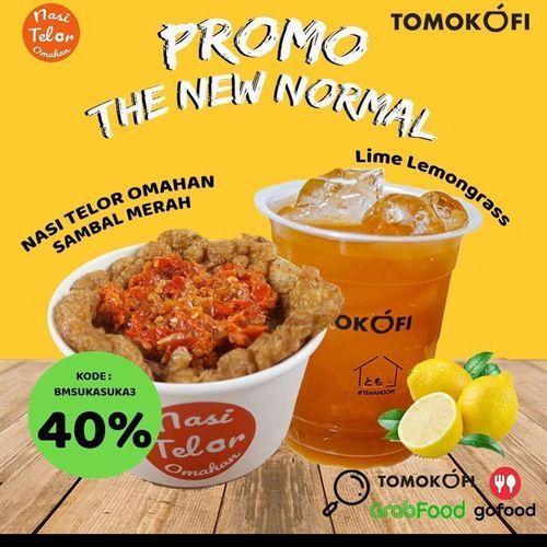 TOMOKOFI PROMO NEW NORMAL 40% KODE PROMO GRABFOOD (26484999) di Kota Jakarta Selatan