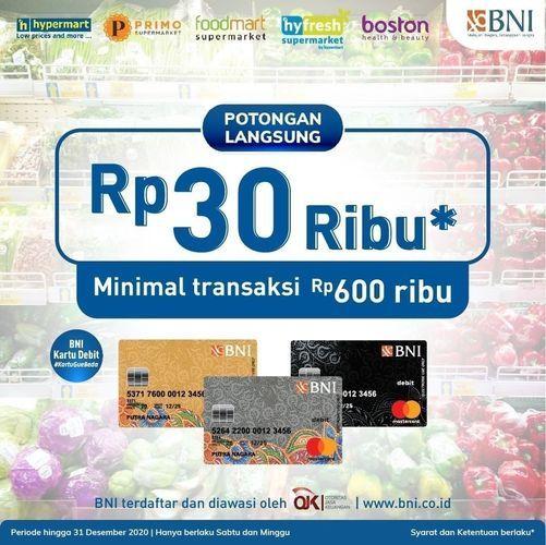 HYPERMART PROMO BNI POTONGAN RP 30.000 (26485907) di Kota Jakarta Pusat