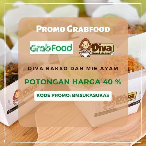 DIVA BAKSO & MIE AYAM PROMO GRABFOOD POTONGAN HARGA 40% (26486691) di Kota Jakarta Selatan