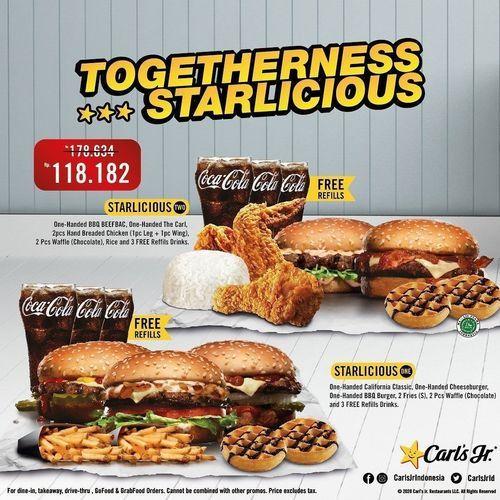 Carls Jr Promo Paket Togetherness Starlicious (26486847) di Kota Jakarta Selatan