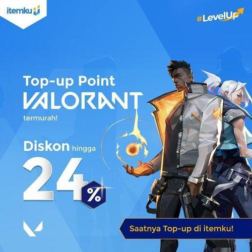 ITEMKU Top Up Point Valorant diskon hingga 24% (26489035) di Kota Jakarta Selatan
