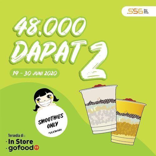 SOUR SALLY PROMO BELI SALLY SMOOTHIES 48K DAPAT 2 (26499903) di Kota Jakarta Selatan