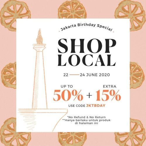 Tinkerlust Jakarta Birthday Special Sale Up To 50% Off (26508799) di Kota Jakarta Selatan