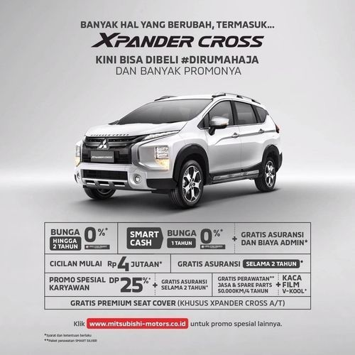 Mitsubishi Promo Xpander Cross Bunga 0& (26509067) di Kota Jakarta Selatan