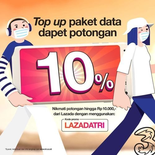 TRI PROMO TOPUP DATA (26521035) di Kota Jakarta Selatan