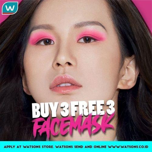 WATSONS BUY 3 FREE 3 FACEMASK (26521131) di Kota Jakarta Selatan