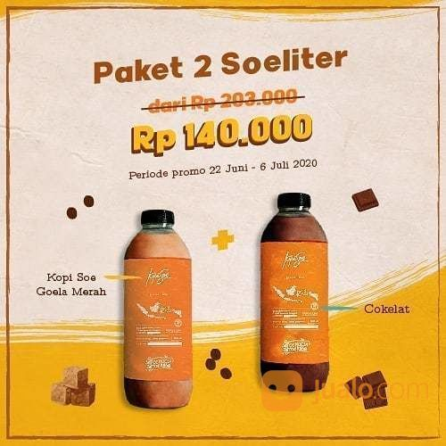 KOPI SOE MALANG Beli 2 SoeLiter (Es Kopi Soe Goela Merah dan Es Cokelat) hanya Rp 140.000 (26521143) di Kota Jakarta Selatan