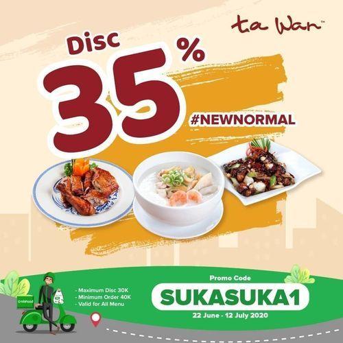 TA WAN DISKON 35% PROMO GRABFOOD (26521163) di Kota Jakarta Selatan