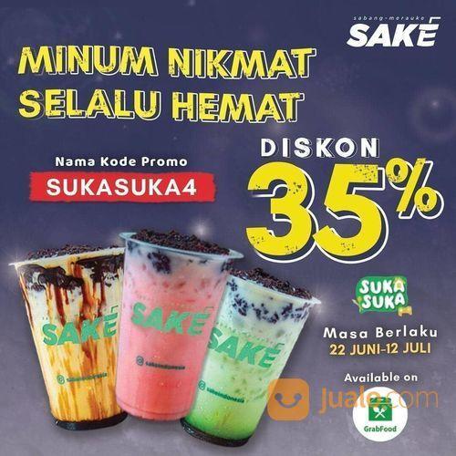SAKE PROMO 35% DARI GRAB FOOD (26521167) di Kota Jakarta Selatan