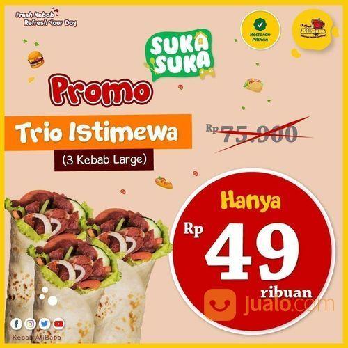 KEBAB ALIBABA PROMO TRIO ISTIMEWA HANYA RP 49K (26521463) di Kota Jakarta Selatan