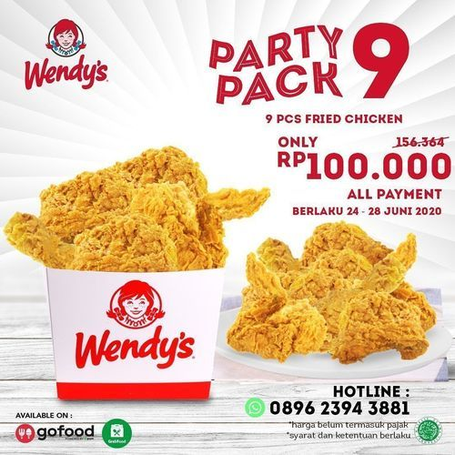 WENDY'S PARTY PACK 9 ONLY RP 100K (26521491) di Kota Jakarta Selatan