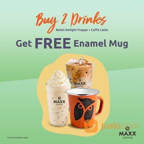 MAXX COFFEE BUY 2 DRINKS GET FREE ENAMEL MUG (26521503) di Kota Jakarta Selatan
