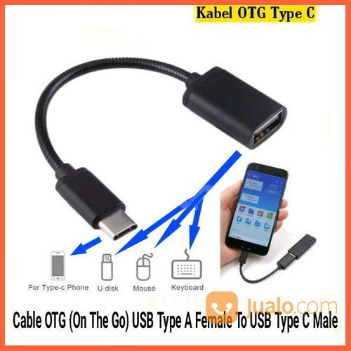 Kabel OTG (On The Go) USB Type A Female To USB Type C Male (26536715) di Kab. Grobogan