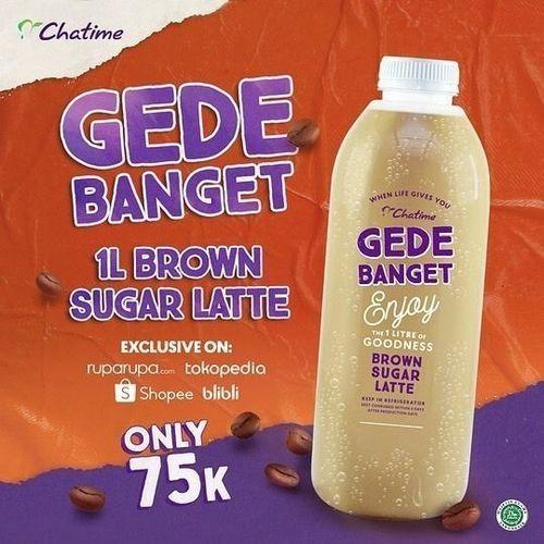 Chatime Promo Brown Sugar Latte 1L 75k (26545207) di Kota Jakarta Selatan