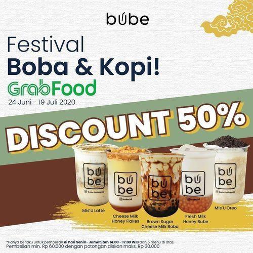Bube Festival Boba & Kopi Discount 50% (26569775) di Kota Jakarta Selatan