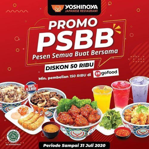 Yoshinoya Promo PSBB Diskon 20 Ribu (26576399) di Kota Jakarta Selatan