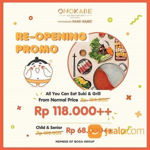 Onokabe Re-Opening Promo (26595343) di Kota Jakarta Selatan