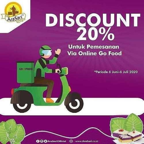 LAPIS TALAS ARASARI PROMO DISKON 20% GOFOOD (26621607) di Kota Jakarta Selatan