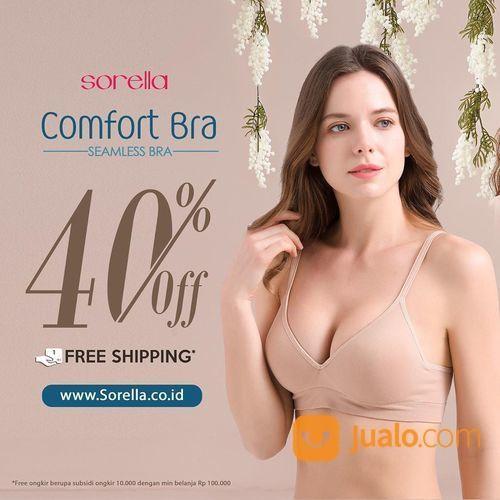 SORELLA PROMO diskon 40% OFF koleksi Comfort bra seamless (26621931) di Kota Jakarta Selatan