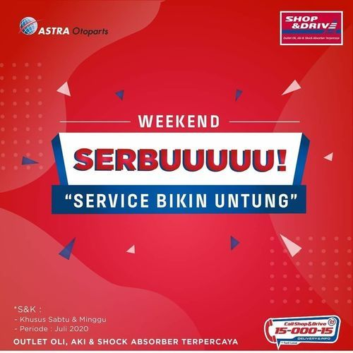 Shop & Drive Weekend Promo Service (26629259) di Kota Jakarta Selatan