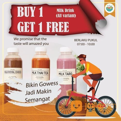 SALAD ANEKA BINTARO BUY 1 GET 1 For All Variant Milky Drink 250 ml (26640031) di Kota Jakarta Selatan
