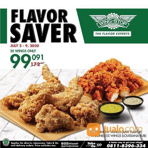 WINGSTOP PROMO FLAVOR SAVER RP 99.091 FOR 20 CHICKEN WINGS! (26687023) di Kota Jakarta Selatan