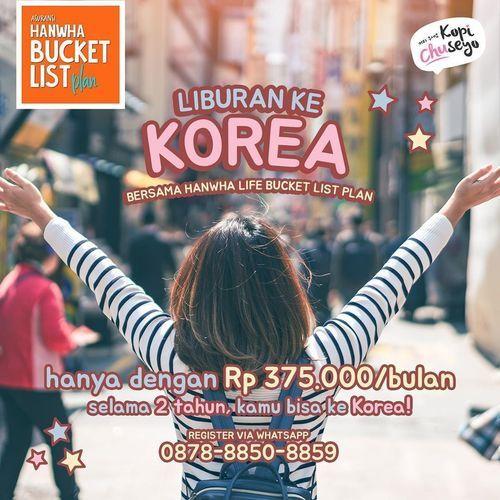 KOPI CHUSEYO PROMO LIBURAN KE KOREA 375K/BULAN (26692563) di Kota Jakarta Selatan