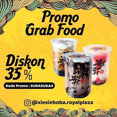 XIEXIE BOBA ROYAL PLAZA PROMO GRABFOOD DISKON 35% (26693599) di Kota Jakarta Selatan