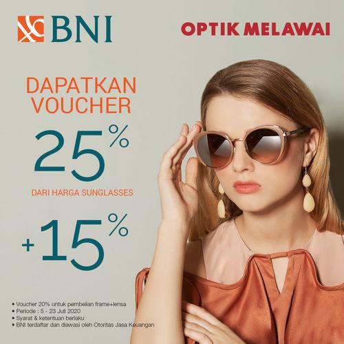 Optik Melawai Promo Voucher BNI (26707471) di Kota Jakarta Selatan