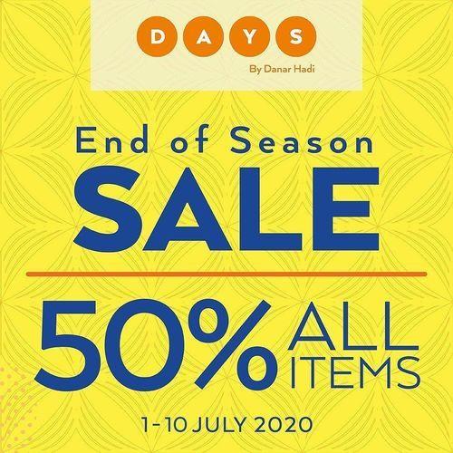 DAYS by Danar Hadi End Of Season Sale 50% Off (26727751) di Kota Jakarta Selatan