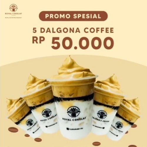 ROYAL COKELAT CAFE SURABAYA 50K GET 5 DALGONA COFFEE (26745215) di Kota Jakarta Selatan