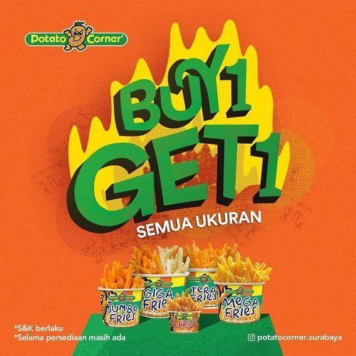 POTATOCORNER SURABAYA PROMO BUY 1 GET 1 SEMUA UKURAN (26755871) di Kota Jakarta Selatan