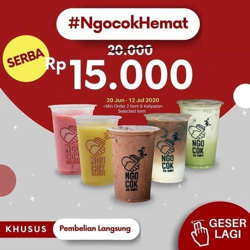 NGOCOK ESKOPI PROMO HEMAT SERBA RP 15.000 VIA GRABFOOD / GOFOOD (26759383) di Kota Jakarta Selatan