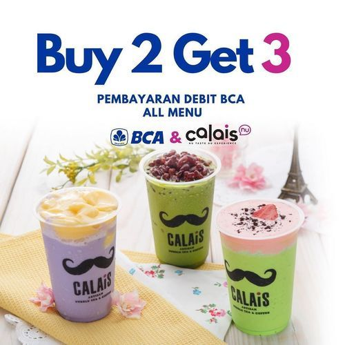 Calais Tea Buy 2 Get 3 Promo BCA Debit (26760403) di Kota Jakarta Selatan