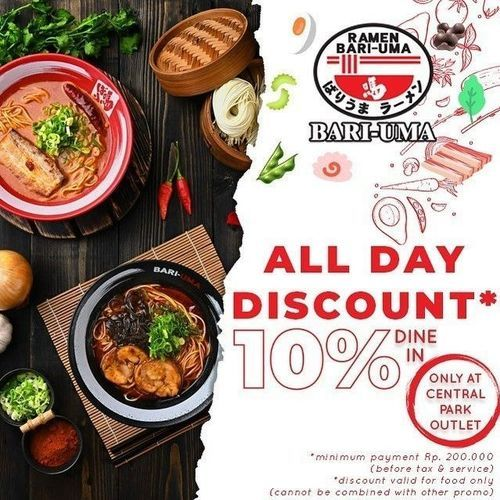 Bariuma Ramen All Day Discount 10% Off (26760487) di Kota Jakarta Selatan