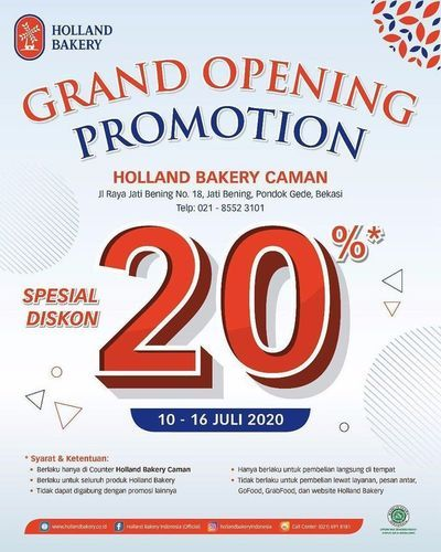 Holland Bakery Grand Opening Promo (26788527) di Kota Jakarta Selatan