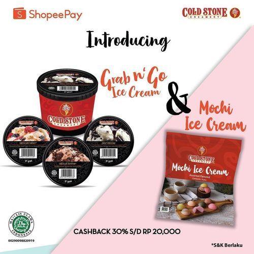 Cold Stone Cashback 30% ShopeePay (26788811) di Kota Jakarta Selatan